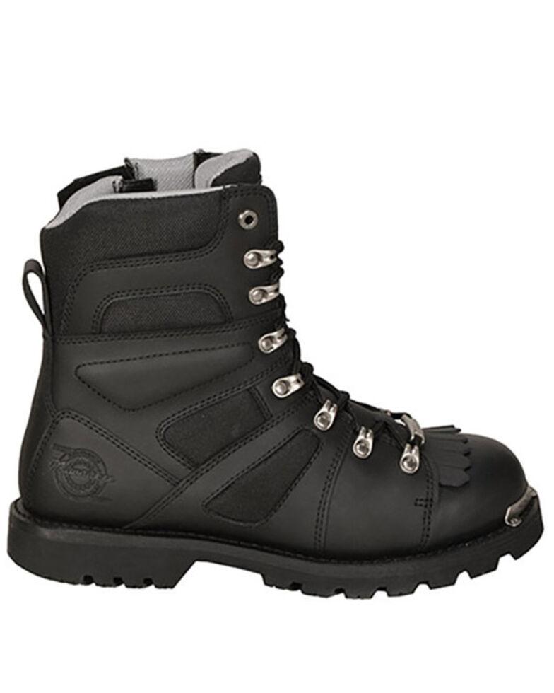 Milwaukee Motorcycle Clothing Co. Men's Ranger Moto Boots - Round Toe, Black, hi-res
