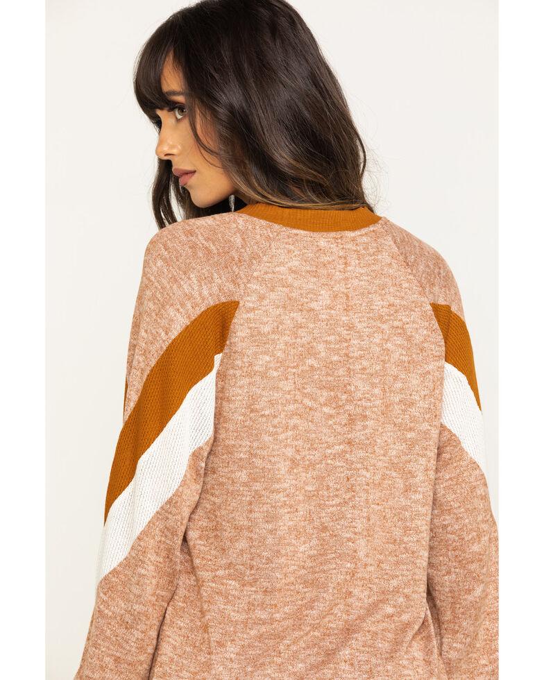 Eyeshadow Women's Rust Hacci Pullover  , Rust Copper, hi-res