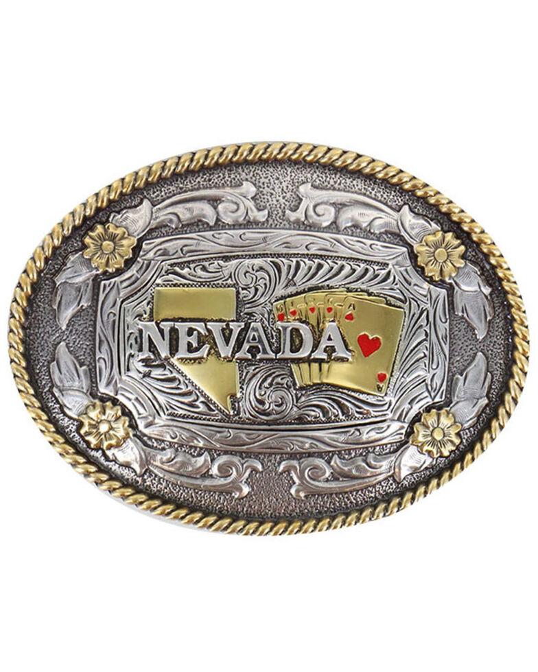 Cody James® Oval Nevada Buckle , Silver, hi-res