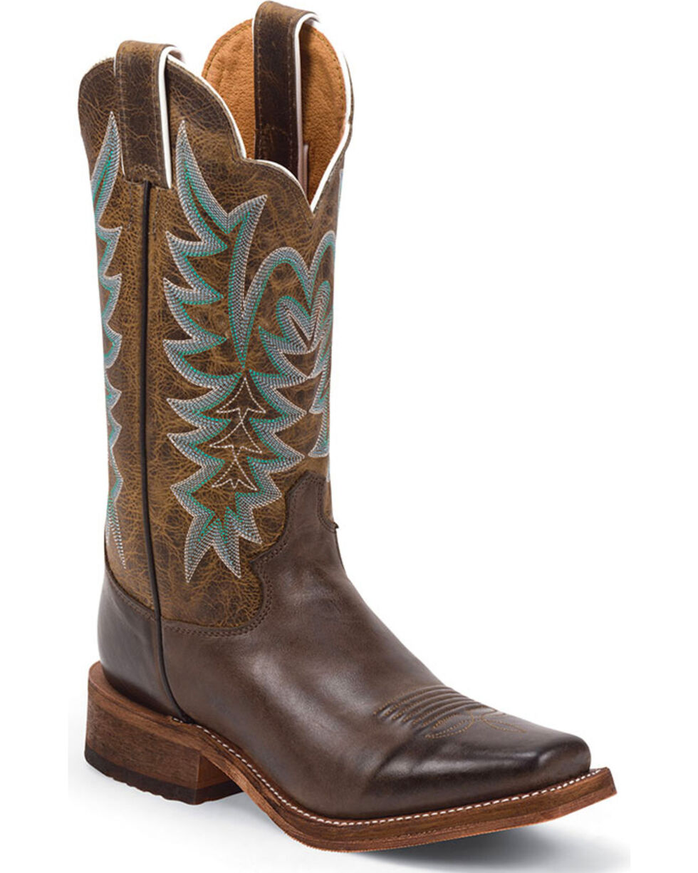 Justin Women's America Bent Rail Western Boots, Chocolate, hi-res