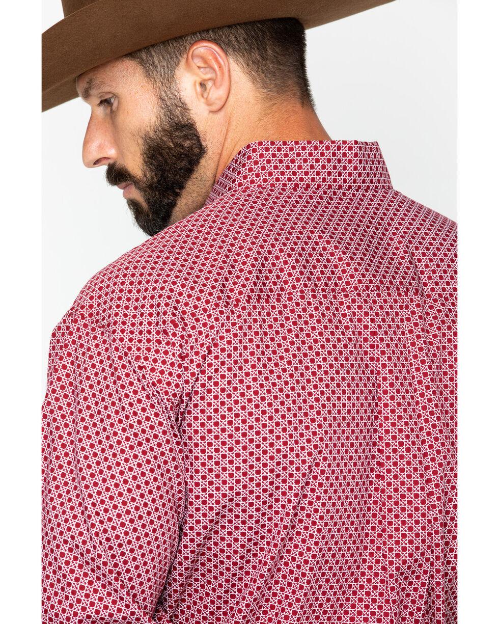 Cinch Men's Burgundy Print Long Sleeve Button Down Shirt, Burgundy, hi-res