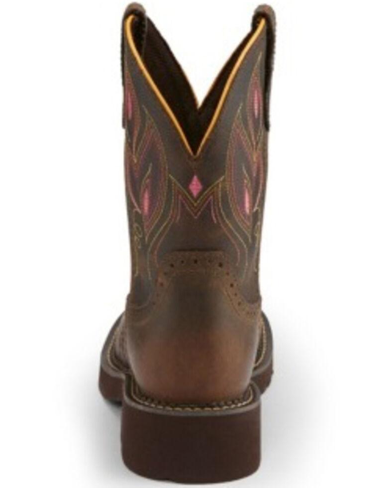 Justin Women's Gemma Shetland Western Boots - Round Toe, Dark Brown, hi-res