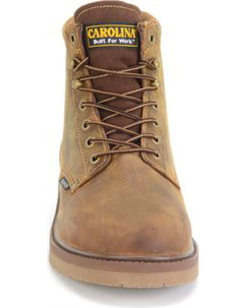 "Carolina Men's 6"" Smooth Sole WP ST Work Boots, Brown, hi-res"