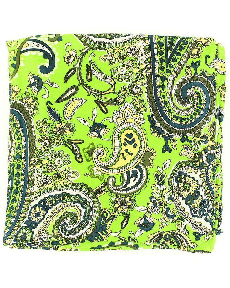 Paisley Silk Wild Rag, Lime, hi-res