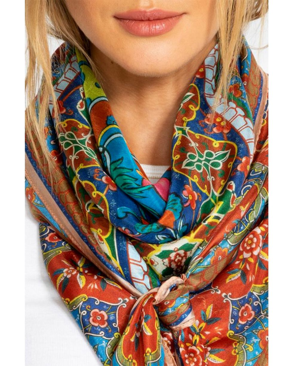 Johnny Was Women's Valeni Silk Scarf, Multi, hi-res