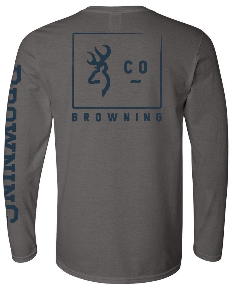Browning Men's Grey 1878 Logo Graphic Long Sleeve T-Shirt , Grey, hi-res