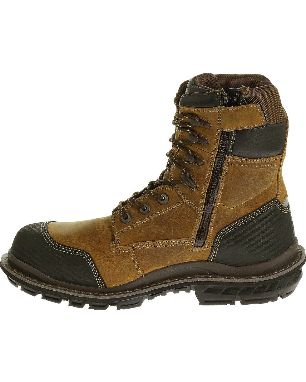 "CAT Men's Fabricate 8"" Tough WP Composite Toe Work Boots, Brown, hi-res"