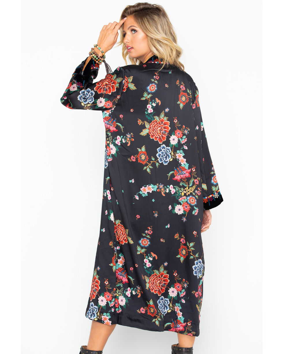Johnny Was Women's Velvet Mix Floral Print Kimono, Multi, hi-res