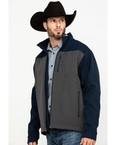 Cinch Men's Multi Color Blocked Bonded Jacket , Blue/grey, hi-res