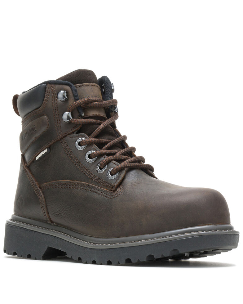 Wolverine Women's Floorhand Work Boots - Steel Toe, Dark Brown, hi-res