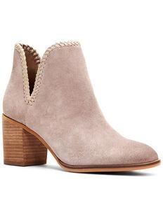 Frye & Co. Women's Phoebe Braided Fashion Booties - Round Toe, Grey, hi-res