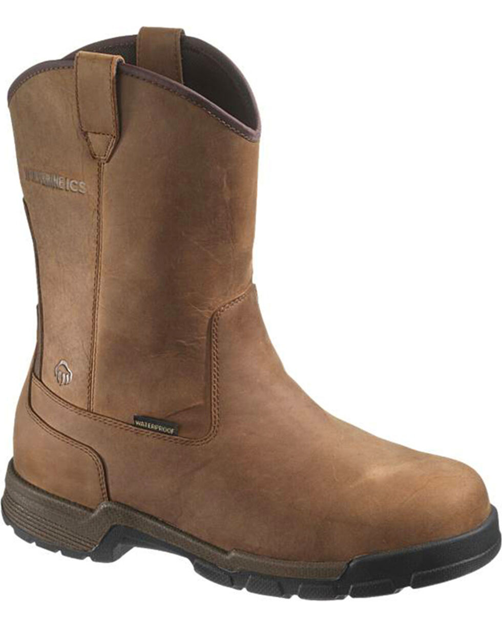 Wolverine Men's Gear WPF Composite Toe Wellington Boots, Brown, hi-res