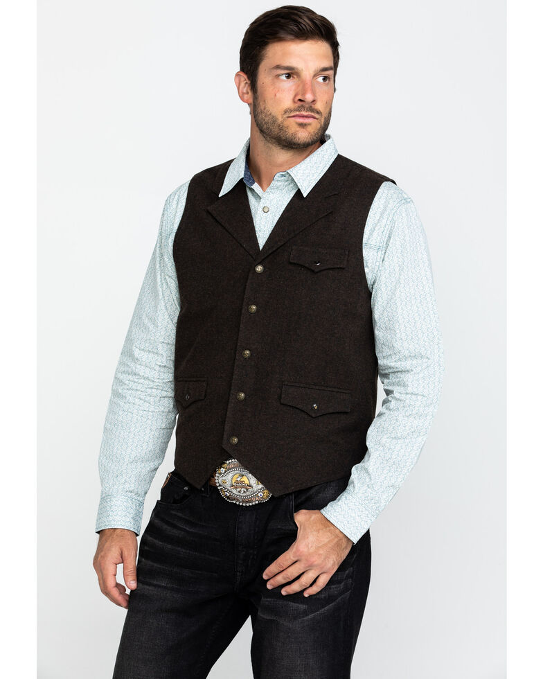 Moonshine Spirit Men's Riverbend Wool Heathered Vest , Burgundy, hi-res