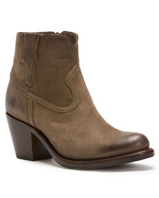 Frye Women's Grey Lillian Western Booties - Round Toe , Grey, hi-res