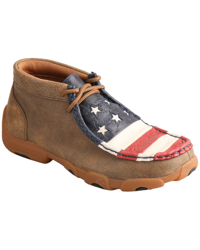 Twisted X Kid's VFW American Flag Moc Toe Driving Shoes, , hi-res