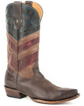 Roper Men's Micah Western Boots - Snip Toe, Brown, hi-res