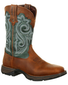 Durango Women's Lady Rebel Waterproof Western Boots - Square Toe, Brown, hi-res