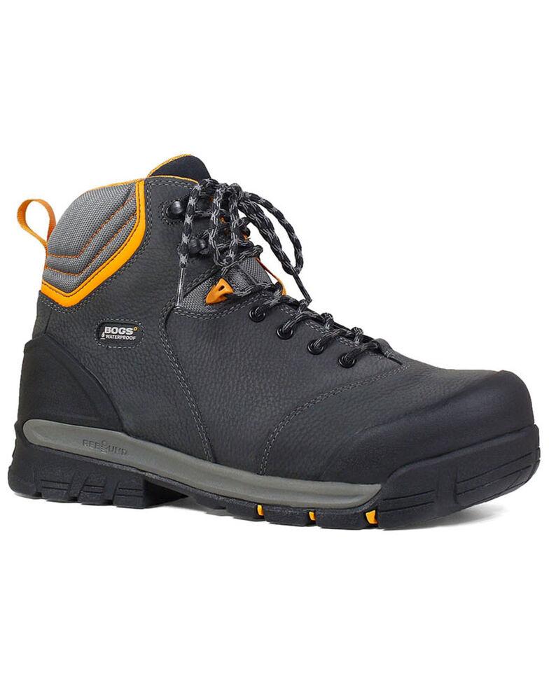 """Bogs Men's Bedrock 6"""" Waterproof Work Boots - Composite Toe, Black, hi-res"""