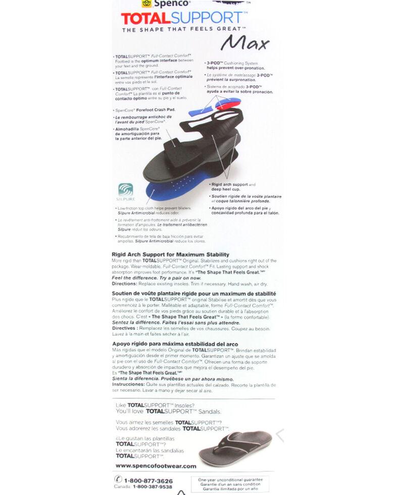 Spenco Total Support Max Insoles, Black/blue, hi-res