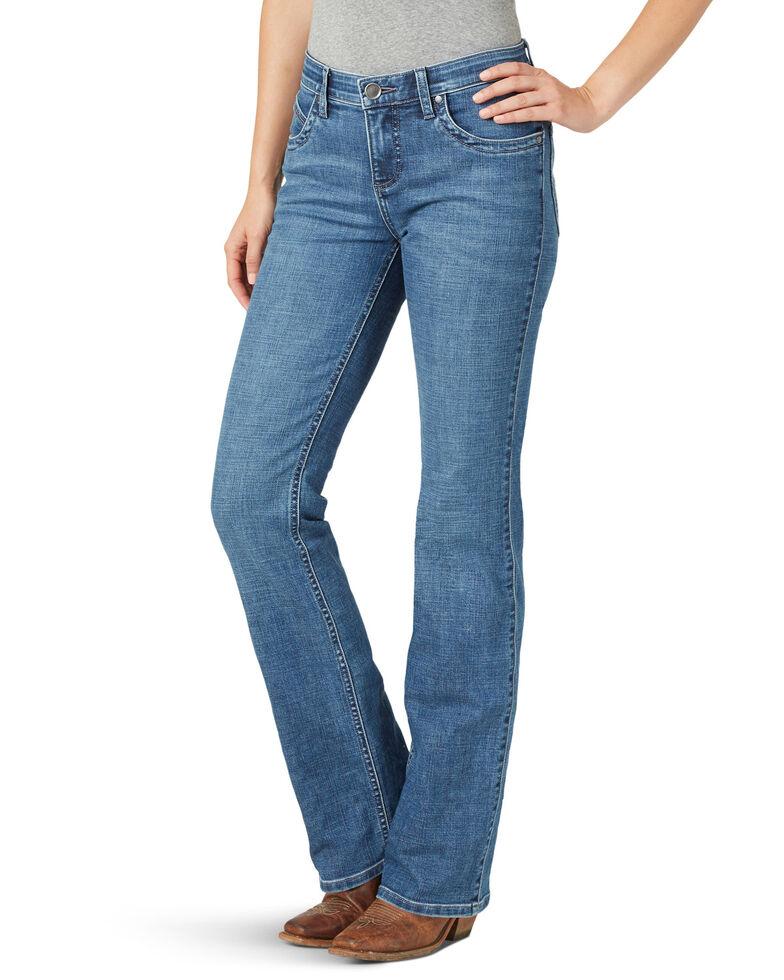 Wrangler Women's Gabby Q-Baby Bootcut Jeans, Blue, hi-res