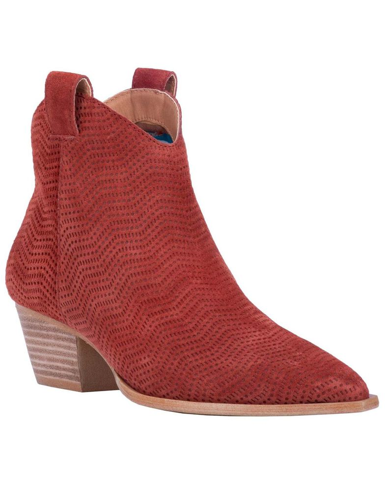 Dingo Women's Kuster Fashion Booties - Snip Toe, Rust Copper, hi-res