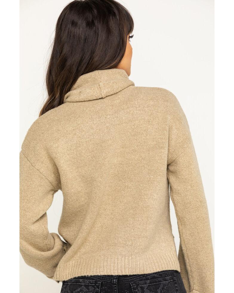 Eyeshadow Women's Tan Cropped Sweater, Tan, hi-res