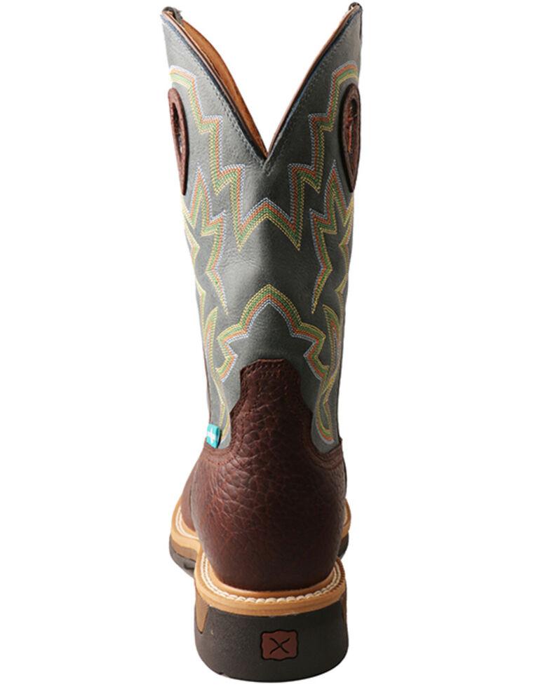 Twisted X Men's Lite Cowboy Waterproof Western Work Boots - Alloy Toe, Cognac, hi-res