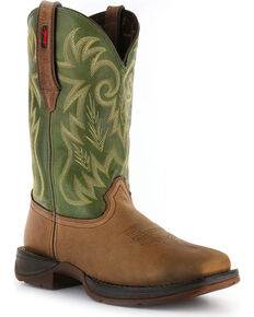 Durango Men's Rebel Pull-On Broad Square Toe Western Boots, Brown, hi-res