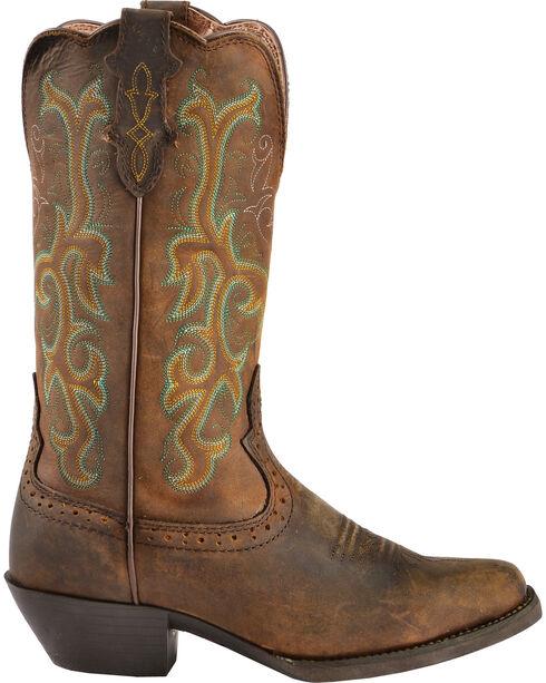 """Justin Women's 12"""" Square Toe Stampede Western Boots, Sorrel, hi-res"""