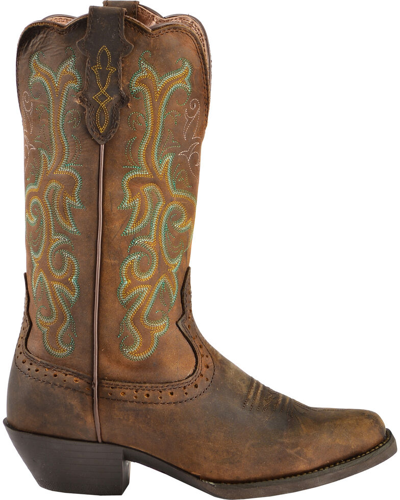 Justin Women S 12 Quot Square Toe Stampede Western Boots
