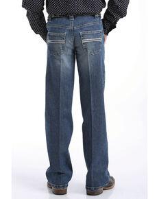 Cinch Boys' Carter Medium Stone Slim Bootcut Jeans , Indigo, hi-res