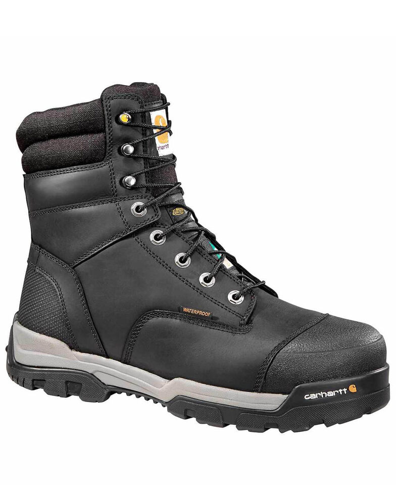 Carhartt Men's Ground Force Waterproof Work Boots - Composite Toe, Black, hi-res