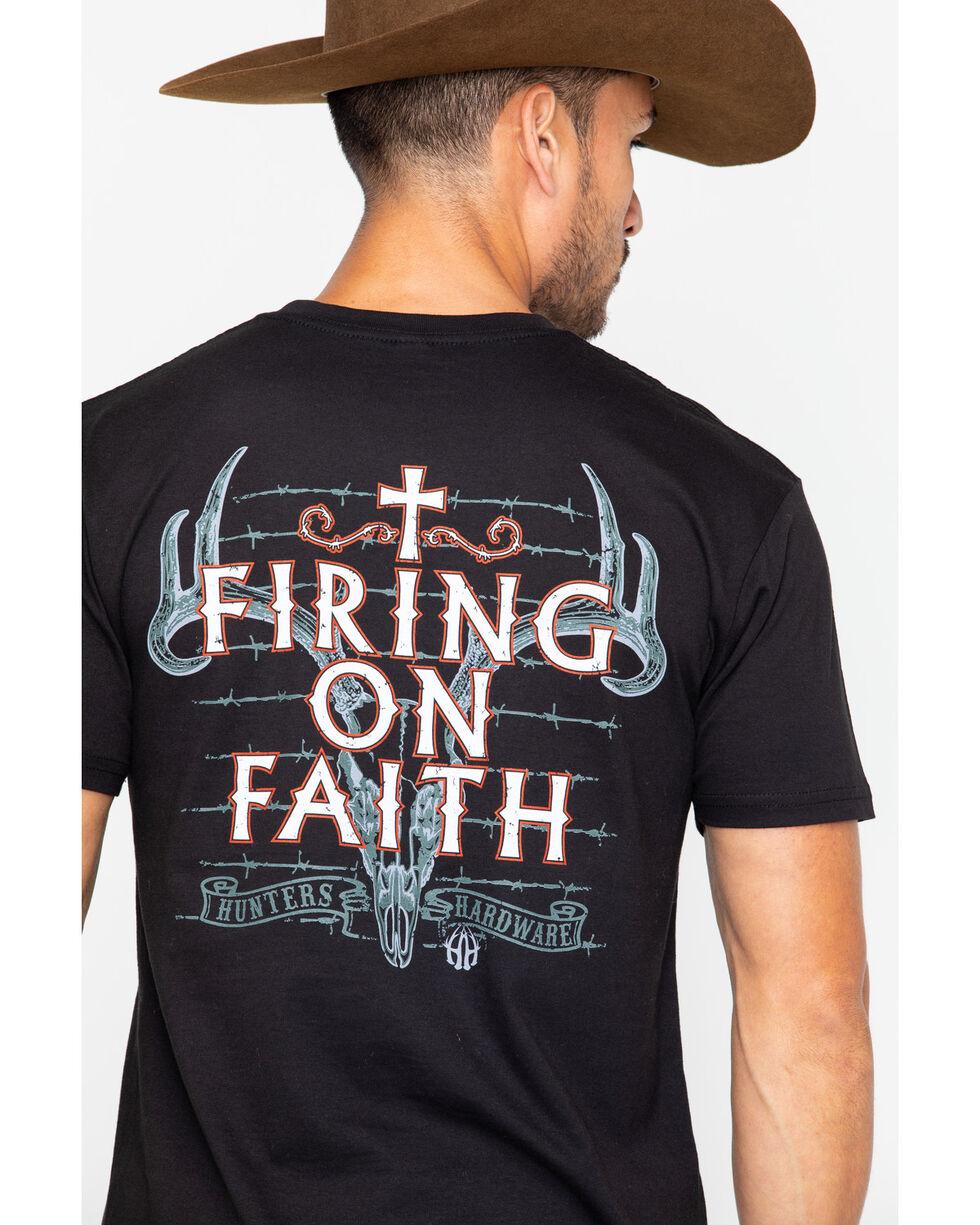 Cowboy Hardware Men's Firing On Faith T-Shirt, Black, hi-res