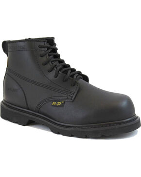 "Ad Tec Men's 6"" Lace Up Uniform Boots, Black, hi-res"