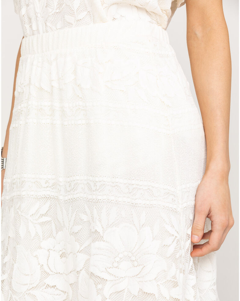 Show Me Your Mumu Women's Kellen Moonlight Roses Skirt , Cream, hi-res