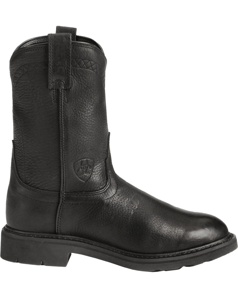 Ariat Men's Sierra Work Boots, Black, hi-res