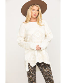 Show Me Your Mumu Women's Cream Canyon Geo Sweater , Cream, hi-res