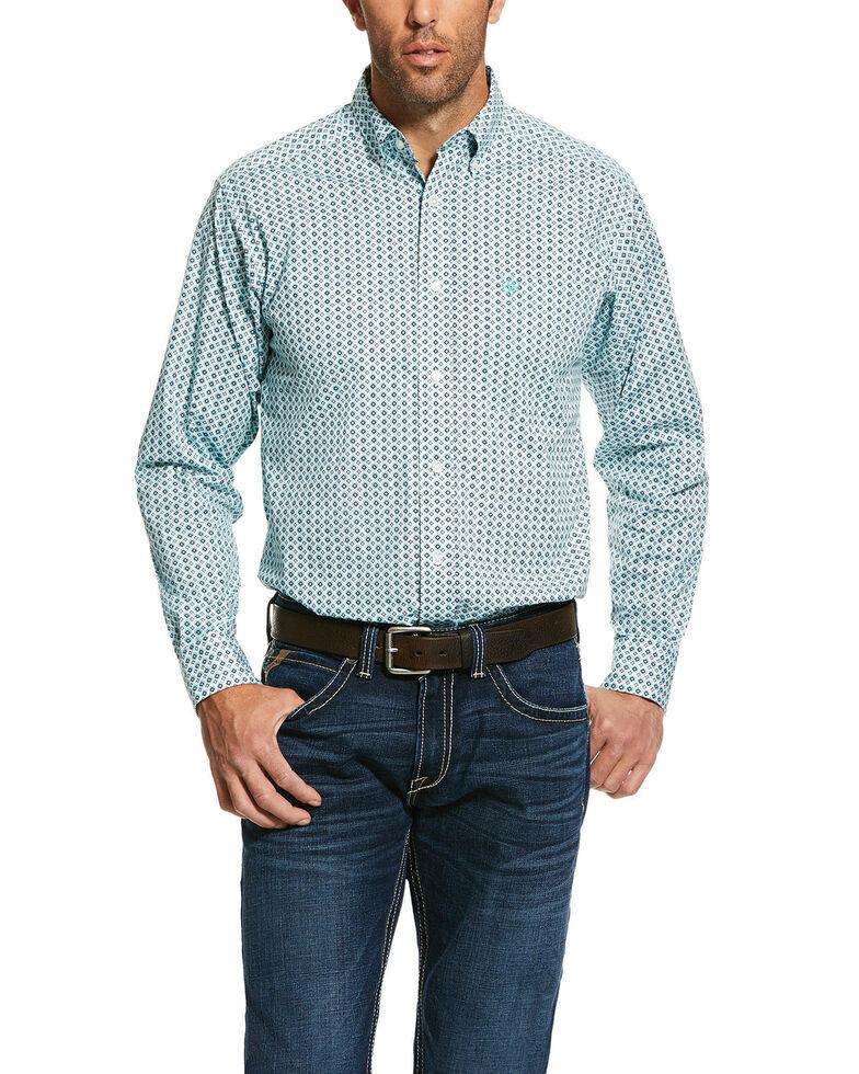 Ariat Men's Oldsmar Print Stretch Fitted Long Sleeve Western Shirt , Multi, hi-res