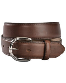 Justin Men's Classics Oiled Brown Western Belt, Brown, hi-res