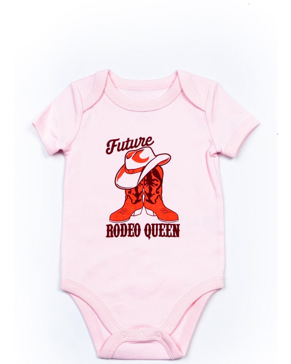Shyanne Infant Girls' Future Rodeo Queen Plaid Onesie Set , Pink, hi-res