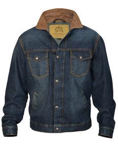 STS Ranchwear Boys' Youth Jumper Denim Jacket , Brown, hi-res