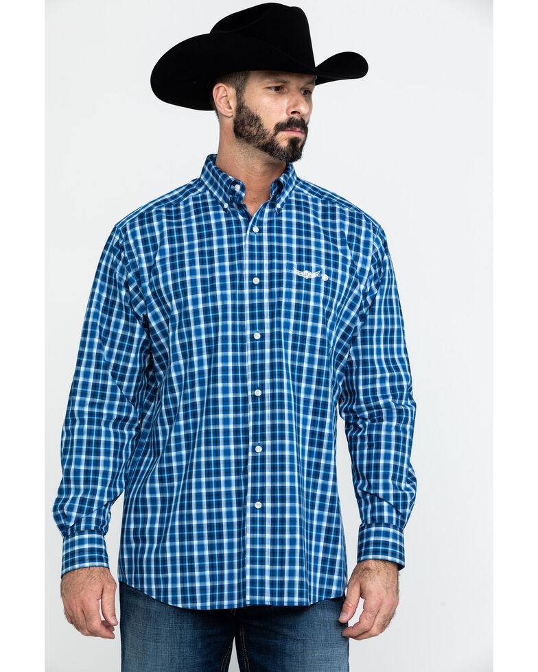Ariat Men's Relentless Blast Plaid Long Sleeve Western Shirt , Multi, hi-res