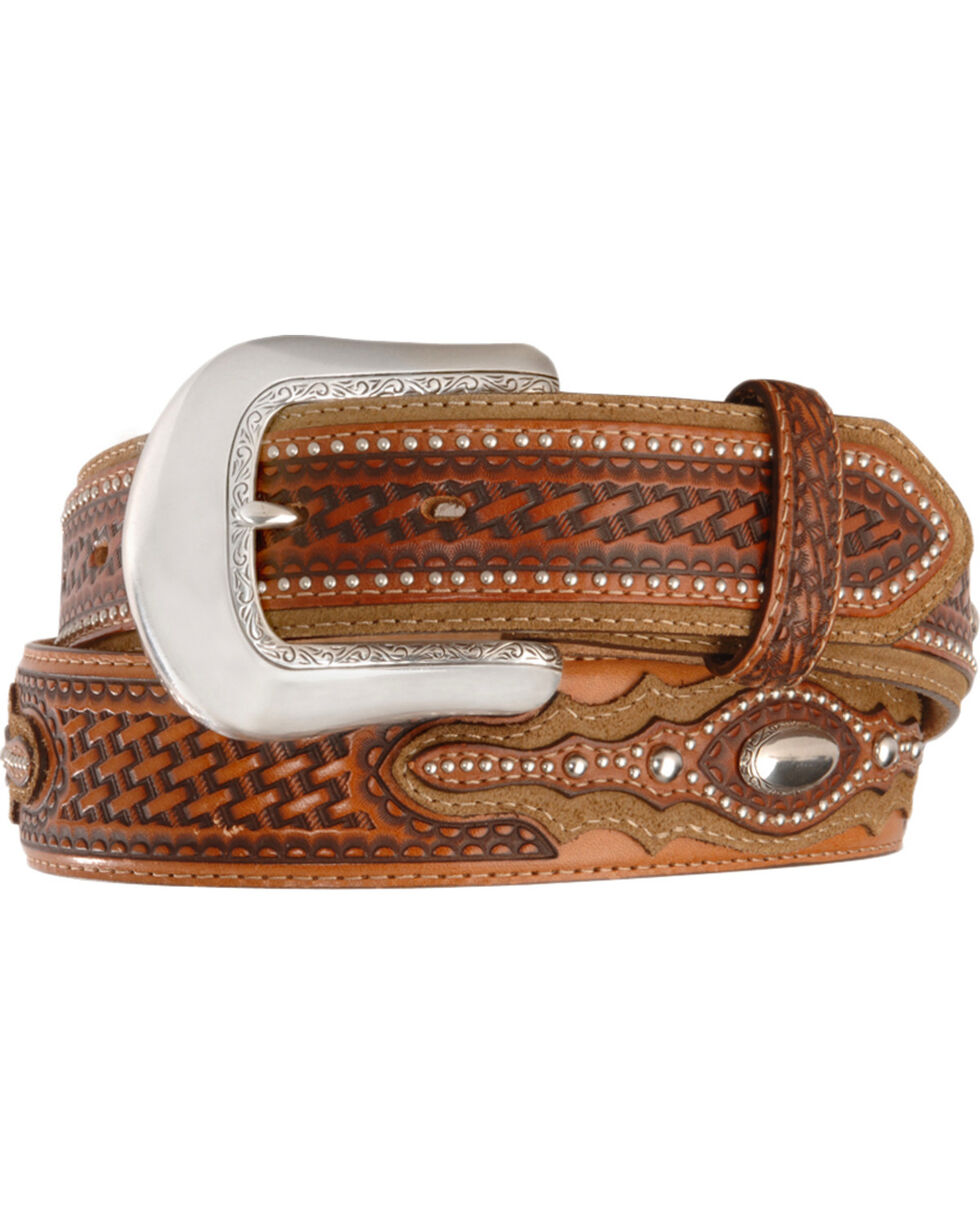 Tony Lama Classic Country Western Belt, Tan, hi-res