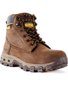 DeWalt Men's Halogen Work Boots - Aluminum Toe , Brown, hi-res