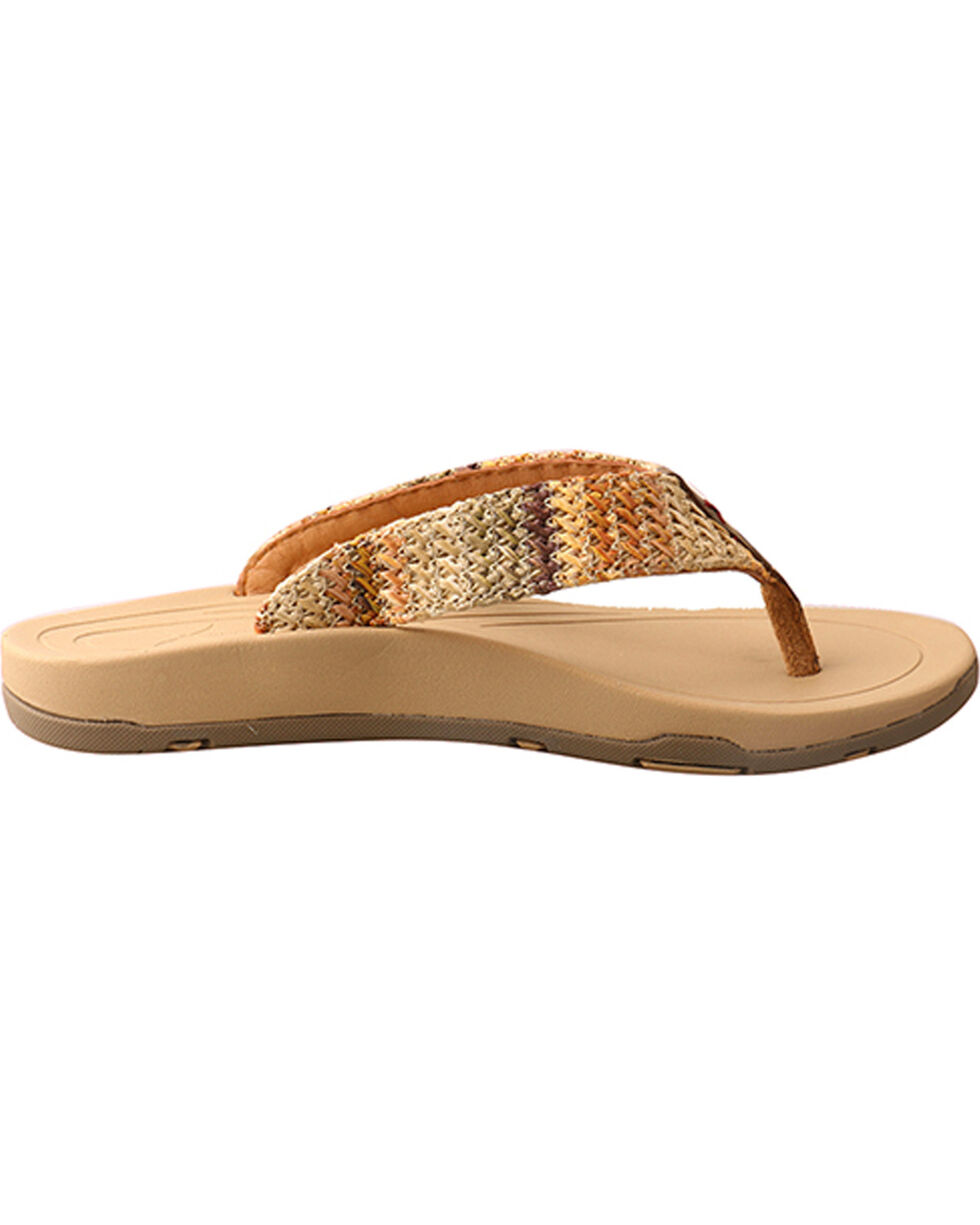 Twisted X Women's Woven Thong Sandal, Multi, hi-res