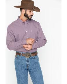 Cinch Men's Geo Print Long Sleeve Western Shirt , Burgundy, hi-res