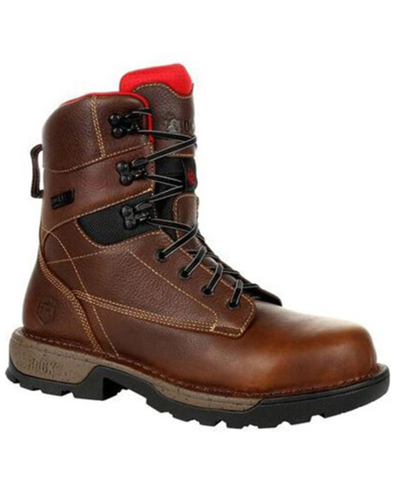 "Rocky Men's Brown Legacy 32 8"" Composite Toe Waterproof Work Boot , Brown, hi-res"