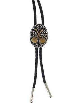 Cody James® Oval Dueling Guitars Bolo tie , Multi, hi-res