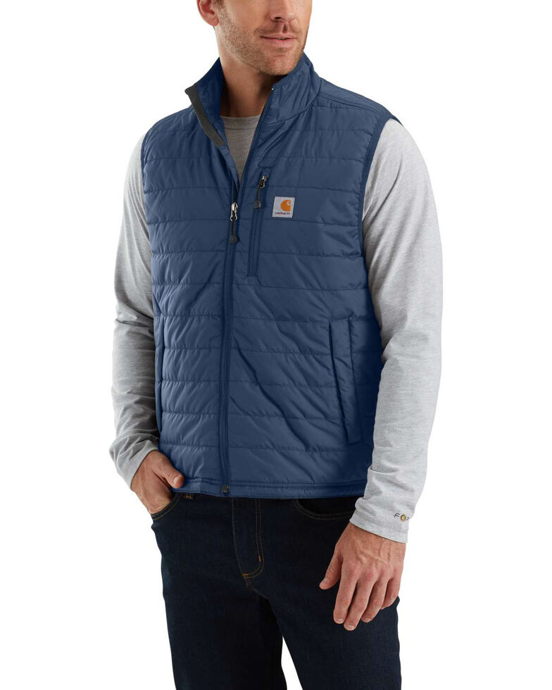 Carhartt Men's Gilliam Work Vest - Big , Dark Blue, hi-res