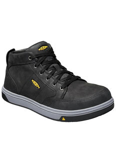 Keen Men's Redding ESD Mid Work Boots - Aluminum Toe, Black, hi-res